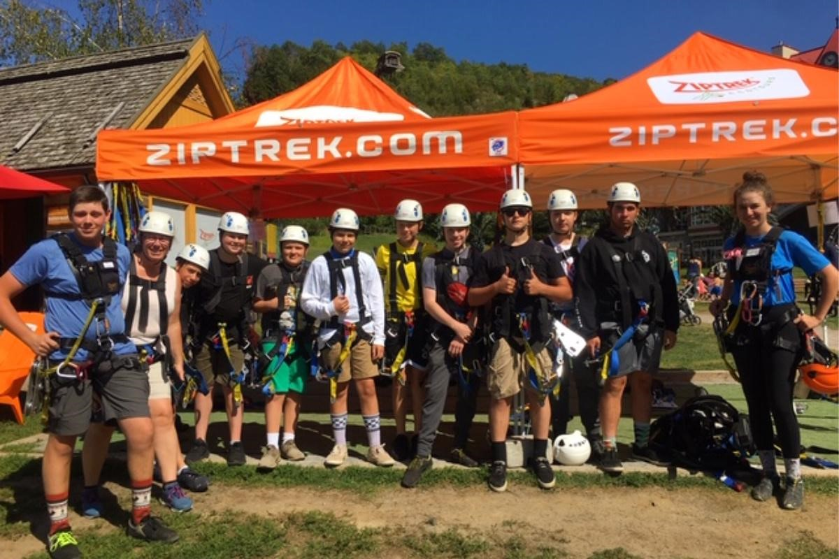 ZIPTREK WELCOMES MONT TREMBLANT AIR CADETS